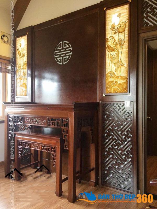 Vách CNC phòng thờ, vách ngăn bàn thờ hiện đại, đẹp, giá cạnh tranh