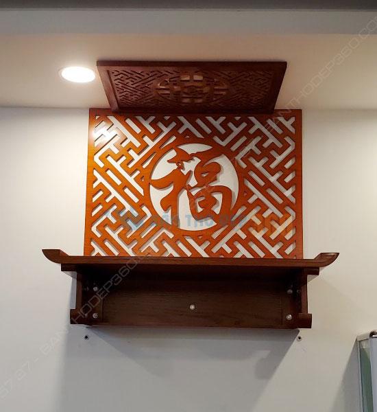 bàn thờ chung cư treo tường