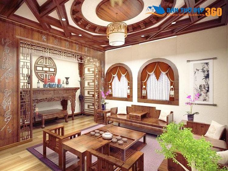 10+ Mẫu thiết kế phòng khách có bàn thờ đẹp hợp phong thủy